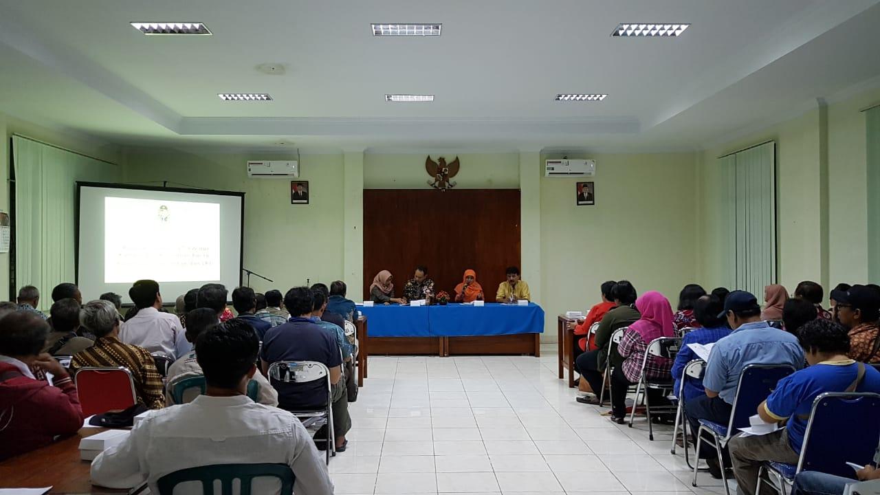 Rapat Koordinasi RT, RW dan Ketua Kampung se-Kelurahan Baciro, Selasa, 12-02-2019