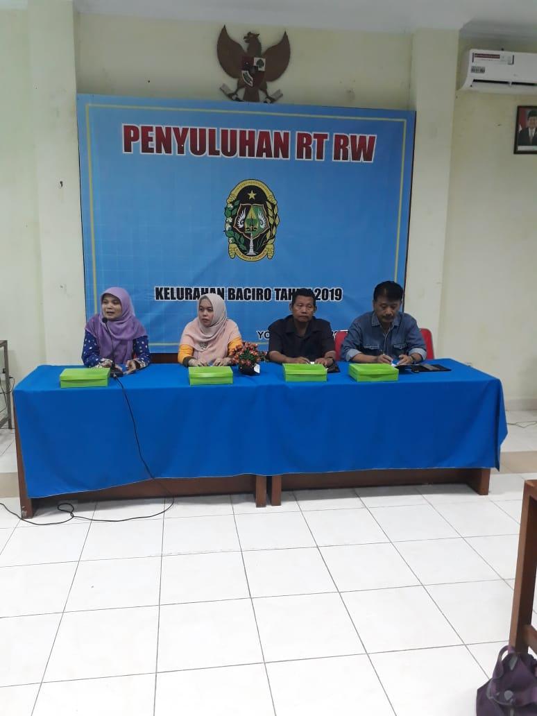 Penyuluhan RT dan RW Kel. Baciro, 29-07-2019